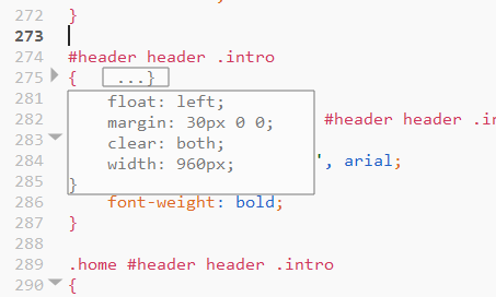 CSS Code Collapsing